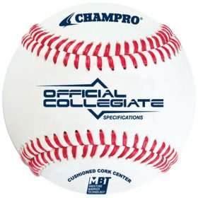 Champro Cbb-501 Collegiate Specifications Flat Seam Baseball - 1 Dozen