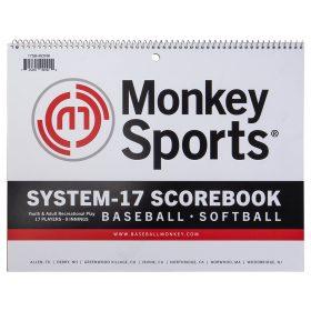 Monkeysports Baseball Scorebook | White