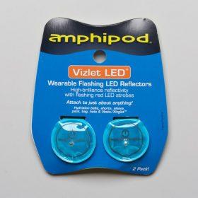 Amphipod Vizlet Flash Dot LED Reflectors 2 Pack Reflective, Night Safety Blue