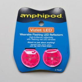 Amphipod Vizlet Flash Dot LED Reflectors 2 Pack Reflective, Night Safety Pink