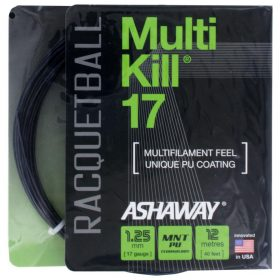 Ashaway MultiKill 17 Black Racquetball String Packages