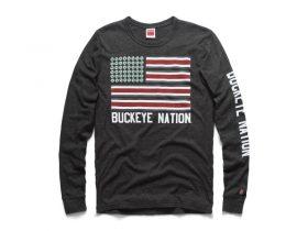 Buckeye Nation Flag Long Sleeve Tee