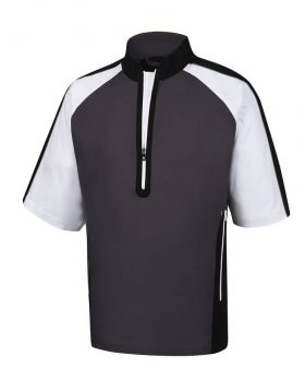 FOOTJOY SHORT SLEEVE SPORT WIND SHIRT CHARCOAL/BLACK/WHITE - 32618