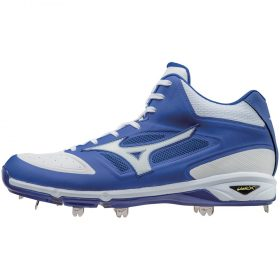 Mizuno Dominant Ic Men's Mid Cut Metal Baseball Cleats | Size 7 | Royal Blue/White