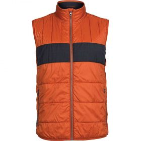 Icebreaker Men's Stratus X Vest - Large - Copper / Jet Heather