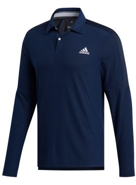 ADIDAS LONG SLEEVE SPORT GOLF POLO SHIRT - FJ9924 COLL NVY - M
