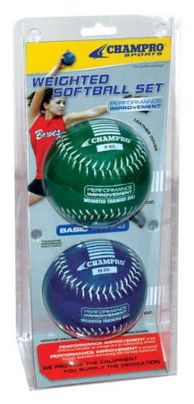 Champro Basic Weighted Training Softballs - 2 Pack