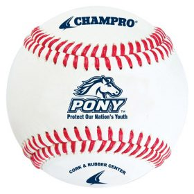 Champro Cbb-200Pl Pony League Baseball - 1 Dozen | 9 In.